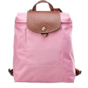 Longchamp Le Pliage backpack - pink NWT
